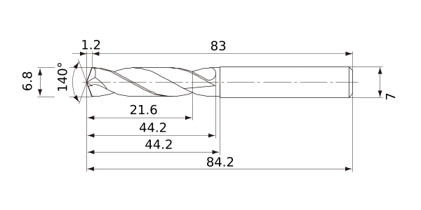 9.3 mm Shank Diameter 9.3 mm Cutting Diameter 2 Hole Depth Mitsubishi Materials MWE0930SA MWE Solid Carbide Drill 1.7 mm Point Length External Coolant
