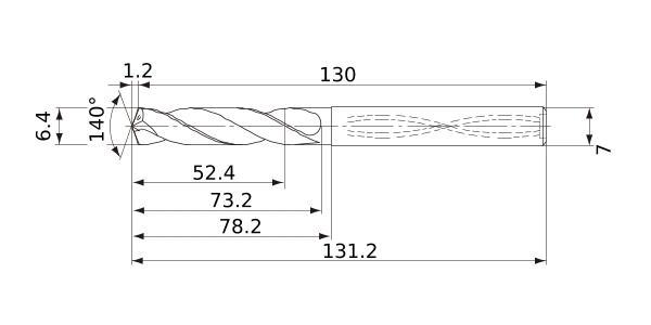 Mitsubishi Materials MVE0860X02S100 Solid Carbide Drill External Coolant 8.6 mm Cutting Diameter 1.6 mm Point Length 2 Hole Depth 10 mm Shank Diameter