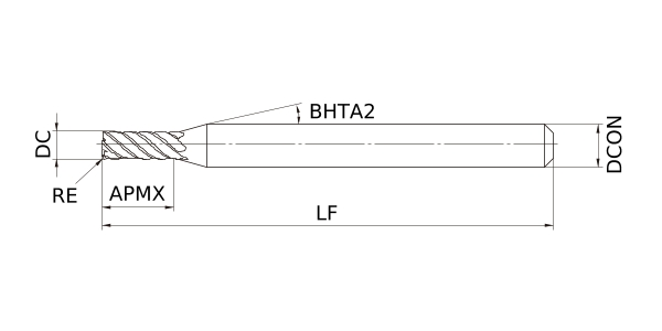 5 mm Cut Dia Mitsubishi Materials VFMDRBD0500R030 VFMDRB Carbide Impact Miracle Corner Radius End Mill 0.3 mm Corner Radius 6 Medium Flutes for Difficult to Cut Material 15 mm LOC