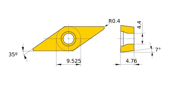 10 Mitsubishi VCMT 160404 NX55