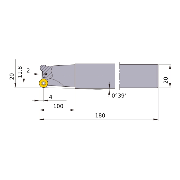 4 Teeth 1.492 Cutting Dia Shank Type Mitsubishi Materials BRP6UPR324ELS20 BRP Series Face Milling Cutter Right Hand 1.25 Fixing Part Depth 12 Length