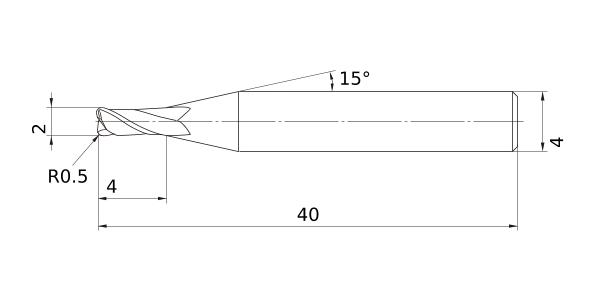 Mitsubishi Materials VQMHVRBD3//8R060 VQMHVRB Carbide Smart Miracle Corner Radius End Mill 0.3750 Cut Dia Irregular Helix Flutes 4 Medium Flutes 0.0600 Corner Radius 0.8750 LOC