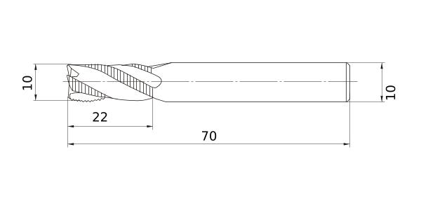Hardened Steel 5 mm LOC Short Flute Mitsubishi Materials VF2SDBR0250 VF2SDB Series Carbide Impact Miracle End Mill 5 mm Cut Dia 6 mm Shank Dia 2.5 mm Corner Radius 2 Flutes